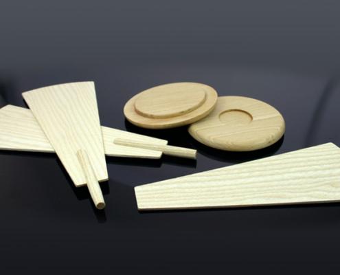 Pyramidenflügel, Holzscheiben CNC gefräst