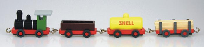 Miniatureisenbahn Güterzug