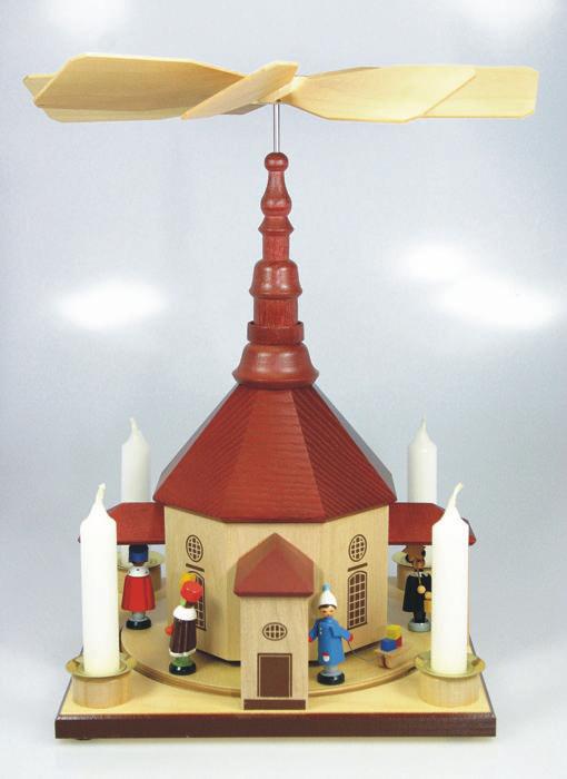 Tischpyramide Seiffener Kirche Kurrende Laternenkinder